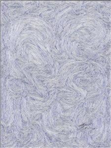 Blue Movement 1, Blue Ink by Angela B Rienerth  (November 2015)