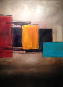 Framework, Acrylic by Barbara Taylor Hall  (March 2015)