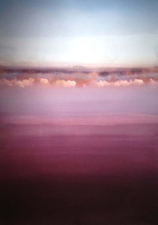 THIRD PLACE: In the Distance II, Acrylic by Barbara Taylor Hall (June 2015)