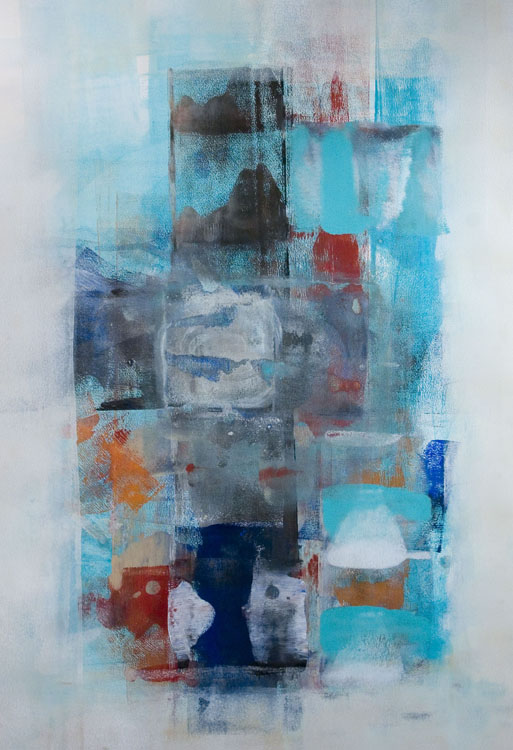 THIRD PLACE: Intimations II, Mixed Media by Barbara Taylor Hall (August 2015)
