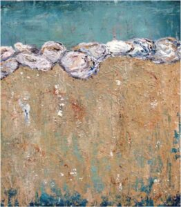 Oysters Just Waiting, Mixed Media by Bev Bley  (April 2015)