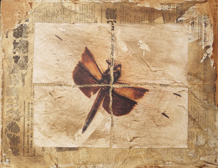 HONORABLE MENTION: Dragonfly Waltz No. 17, Mixed Media by Bob Worthy  (October 2015)