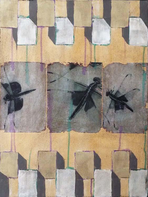 THIRD PLACE: Dragonfly Waltz No. 2, Mixed Media by Bob Worthy  (May 2015)