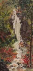 Falling Water, Sumi-e by Carol Waite  (February 2015)