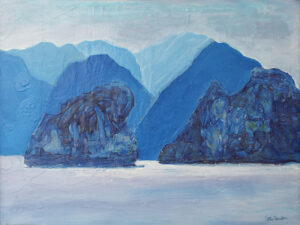 Halong Bay, Viet Nam 2, Acrylic on Canvas by Cathy Herndon  (April 2015)