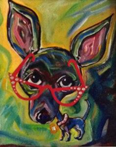 Eye Chihuahua No. 10, Mixed Media by Christine Leinbach (March 2015)