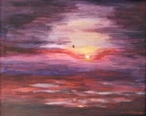 A New Day Breaks, Acrylic by Collette Caprara (July 2015)