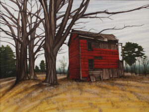 Old Red House, Acrylic Air Brush by Dan Ramsey  (May 2015)
