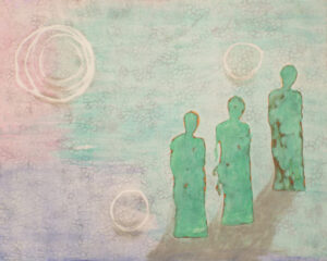 You're Not Alone, Mixed Media by Darlene Wilkinson  (October 2015)