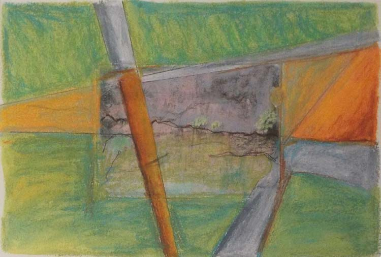 HONORABLE MENTION: Park Series: Inclined Plane, Photo Transfer, Caran Dache, Color Pencil by David Lovegrove  (May 2015)