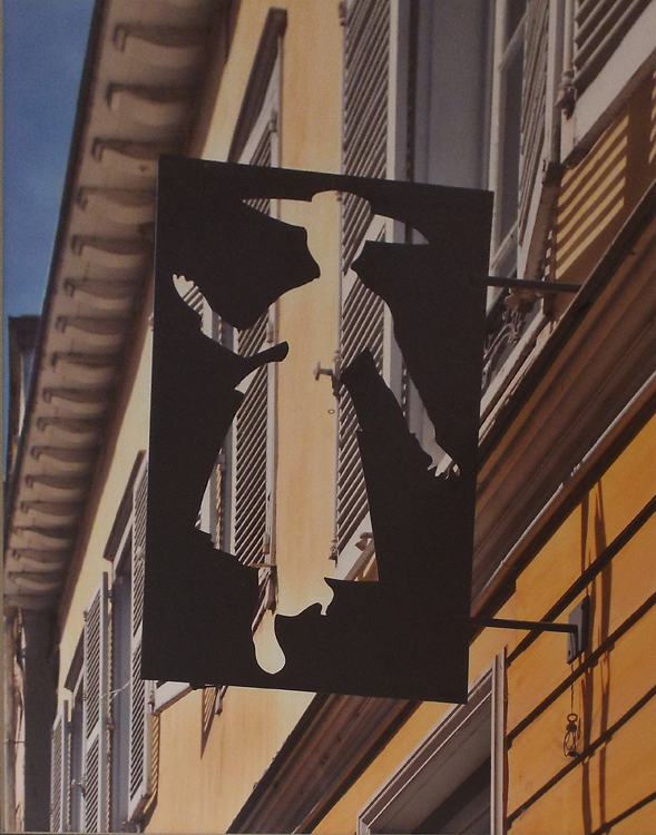 HONORABLE MENTION: Dressmaker's Sign, Chalon, Metallic Photograph by Deborah Herndon  (November 2015)