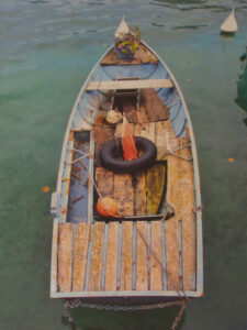 Old Boat, Annecy, Metallic Photo by Deborah Herndon  (March 2015)