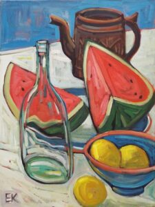 Watermelon 2, Acrylics by Ed King  (March 2015)