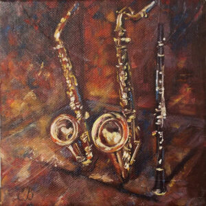 Trio, Oil by Elena Broach (Dec. 2015-Jan. 2016)
