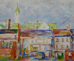 Local View, Watercolor by Elizabeth Shumate (June 2015)