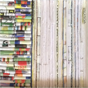 Over Again, Assemblage Recycled Art Materials by Elizabeth Shumate  (Dec. 2015-Jan. 2016)