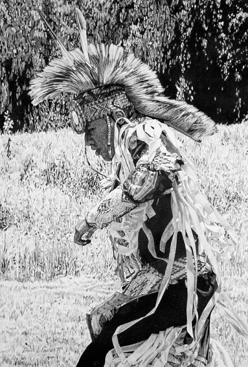 HONORABLE MENTION: Sun Dance, Graphite by Ernie Fournet  (July 2015)