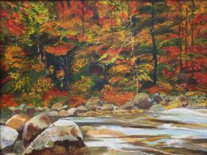 The Fall, Acrylics by Heidi Ordoubadi  (October 2015)
