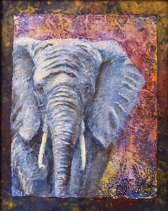 Elephant, Acrylic Mixed Media by Iryna Hamill (Dec. 2015-Jan. 2016)