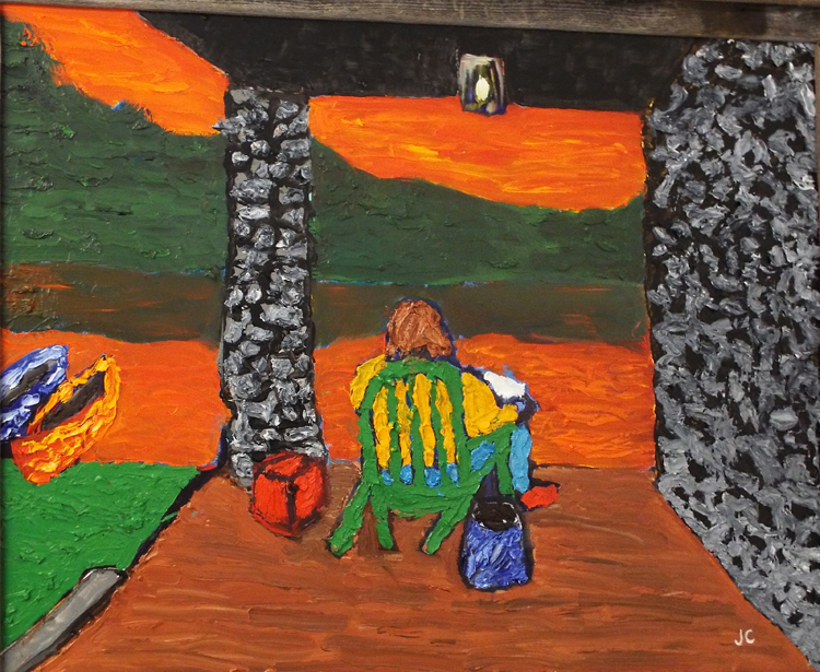 HONORABLE MENTION: The Porch, Oil by James Clark  (February 2015)