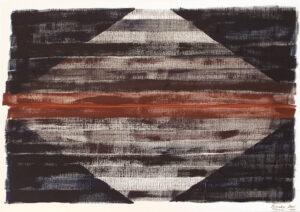 RAUTE, Oil on Paper by Jurgen Brat  (March 2015)