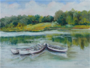 Floating Around at Crockett Park, Pastel by Kathleen Willingham  (August 2015)