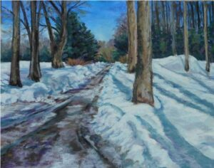 The Long Winters Shadows, Pastel by Kathleen Willingham  (February 2015)