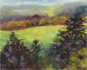 Valley View, Pastel by Kathleen Willingham (July 2015)