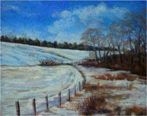 Winter Field, Pastel by Kathleen Willingham  (February 2015)