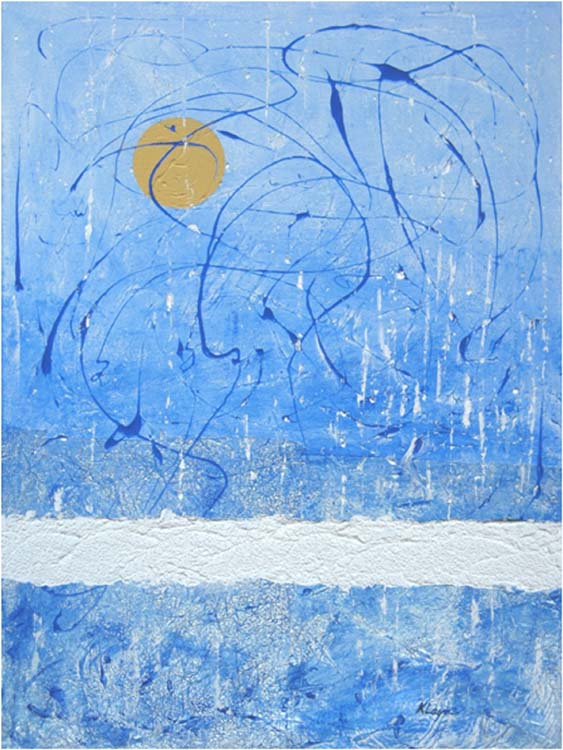 HONORABLE MENTION: Icy Morn, Mixed Media by Kay Layne  (February 2015)