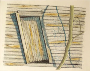 The Old Wooden Shed, Mixed Media by Liana Pivirotto (July 2015)