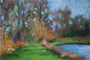 October Pond, Pastel by Libby Stevens  (Dec. 2015-Jan. 2016)