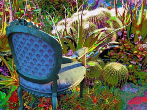 Rose's Chair is in My Garden, Original Computer Art by Lorre Ann Slaw  (Dec. 2015-Jan. 2016)