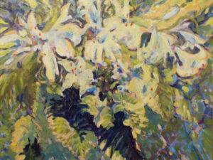 August Evening Bloom, Oil by Marcia Chaves (October 2015)