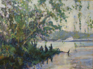 Last Riverboat at Fredericksburg, Oil by Marcia Chaves (October 2015)