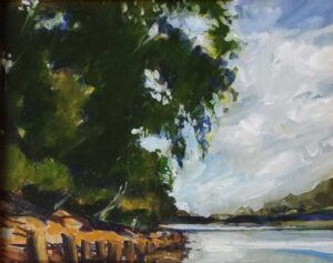 Rappahannock Wharf, Oil by Marcia Chaves  (May 2015)
