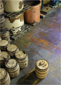 Whiskey Barrels, Photography by Maura Harrison  (March 2015)