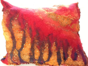 Soft Form Taking Root, Nino Wet Felting by Mirinda Reynolds (March 2015)