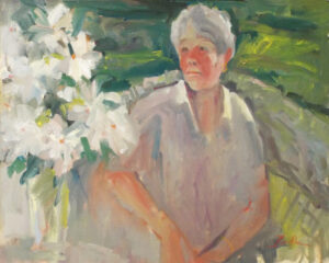 Betsy on the Porch, Oil on Canvas by Nancy Brittle  (February 2015)