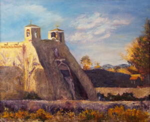 Taos Mission Church, Oil by Nancy M Wing  (May 2015)