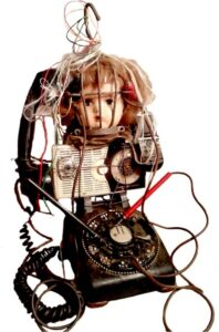 Disconnected, Found Object Sculpture by Pam Weldon  (May 2015)