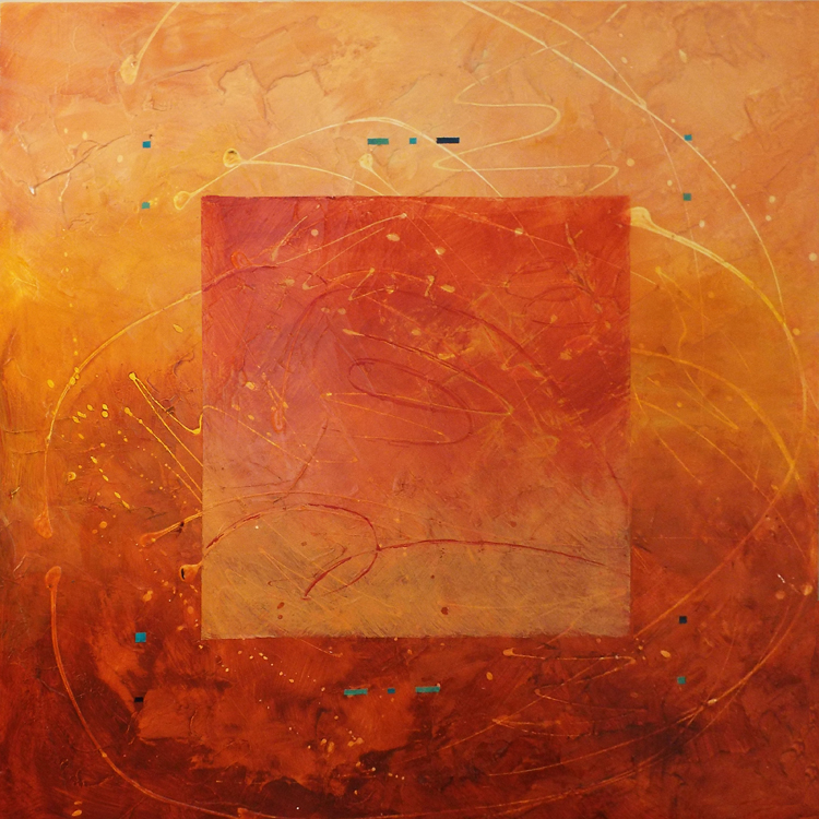 FIRST PLACE: Flight Path II, Acrylic by Patricia Smith  (February 2015)