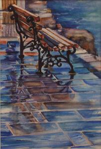 Wet Seat, Watercolor by Penny Peers  (November 2015)