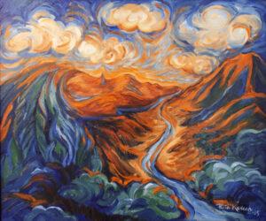 La India Dormida Panamanian Lore, Oil by Rita E Kovach  (November 2015)