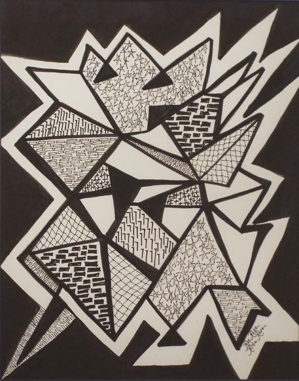 HONORABLE MENTION: High Energy, Ink on Paper by Rita Rose and Rae Rose (September 2015)