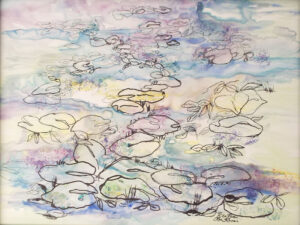 Kelly's Pond, Mixed Media by Rita Rose and Rae Rose  (October 2015)