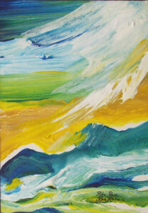 Sky meets Sea, Acrylic by Rita Rose and Rae Rose  (Dec. 2015-Jan. 2016)