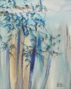 Tranquil, Acrylic and Ink on Paper by Rita Rose and Rae Rose  (August 2015)
