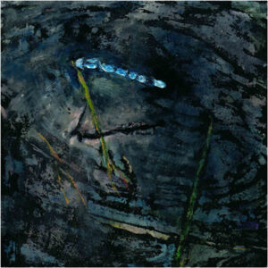 Damselfly, Guoache on Panel by Susan Solomon  (Dec. 2015-Jan. 2016)