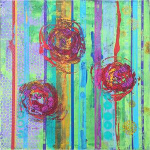 Flower Power, Acrylic on Board by Tarver Harris  (November 2015)